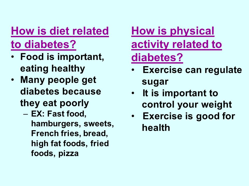 How is diet related to diabetes.