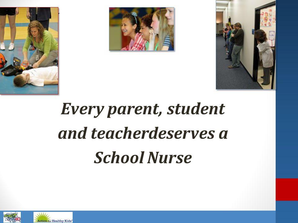 Name of Presentation Every parent, student and teacherdeserves a School Nurse