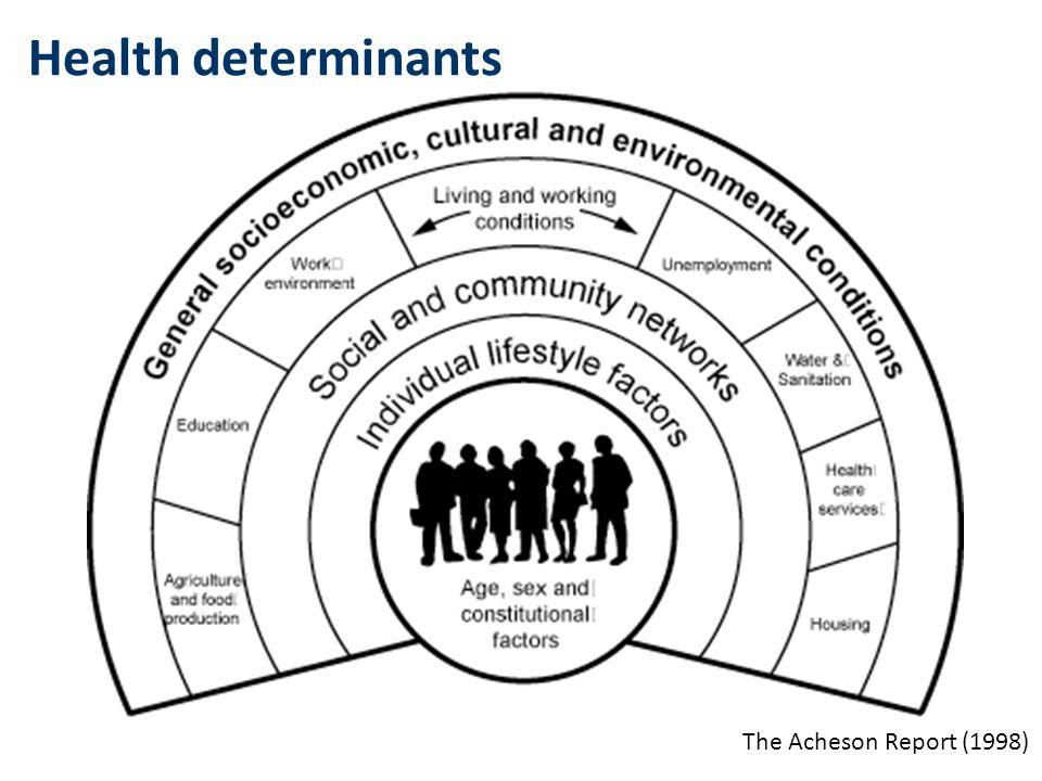 Health determinants The Acheson Report (1998)