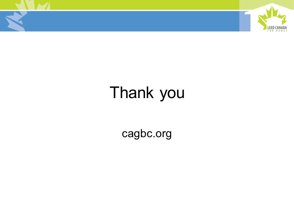 Thank you cagbc.org