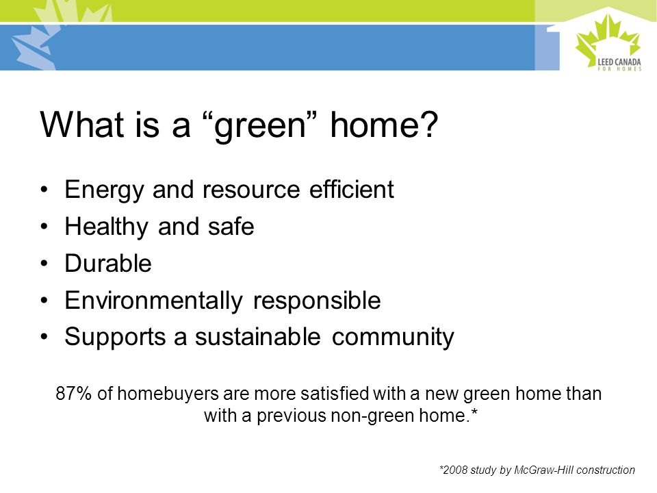 What is a green home.