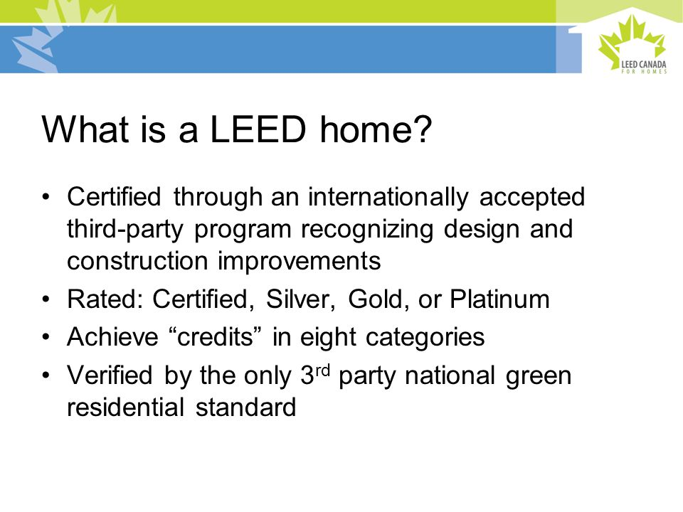What is a LEED home.