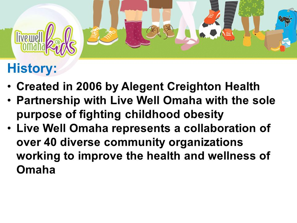 Healthy Families Community Partners: YMCA of Greater Omaha 8 week membership Meeting and Workout Space Expert Staff- Physical Activity Charles Drew Health Center Meeting and Workout Space Expert Staff- Dietician OneWorld Community Health Center Meeting and Workout Space Expert Staff- Site Lead, Behavioral Health Specialist Hy-Vee, Inc.