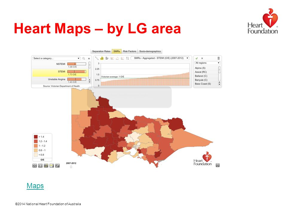 ©2014 National Heart Foundation of Australia Heart Maps – by LG area Maps