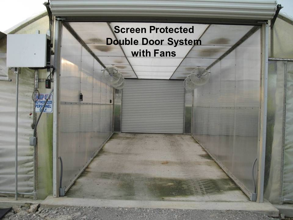 Screen Protected Double Door System with Fans