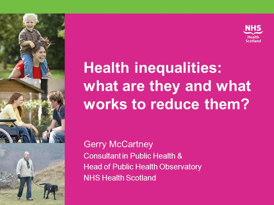 Health inequalities: what are they and what works to reduce them.