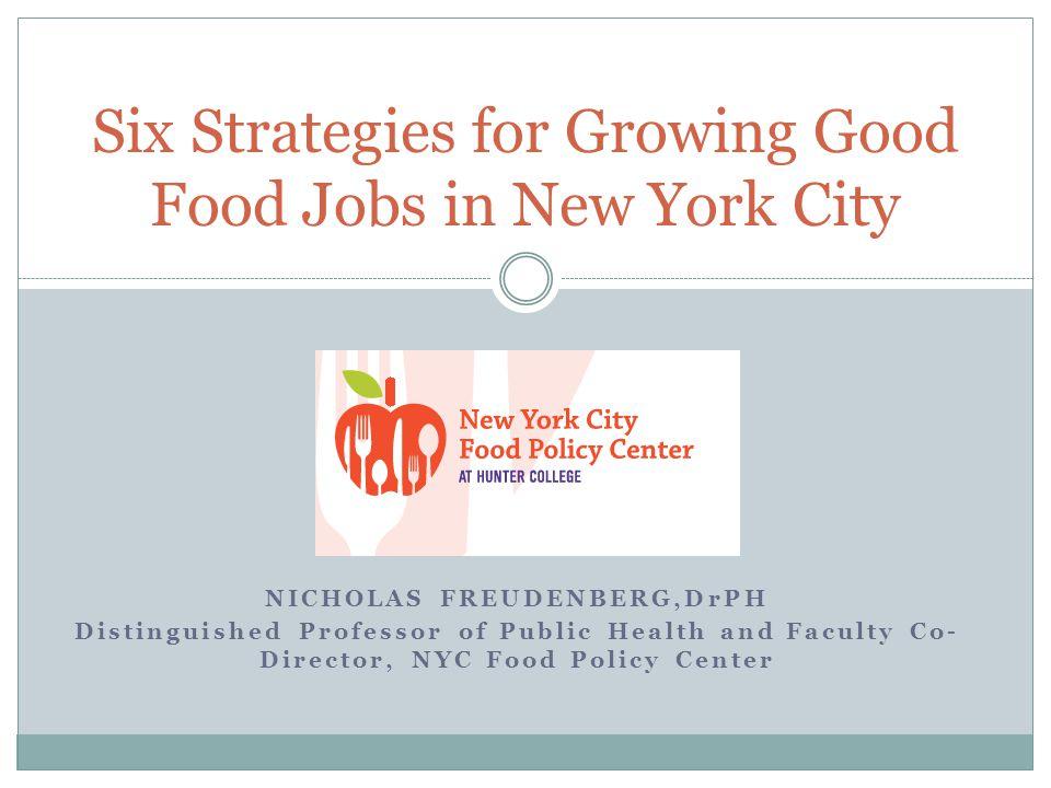 Six Paths to Creating 1,000 New Good Food Jobs 1.