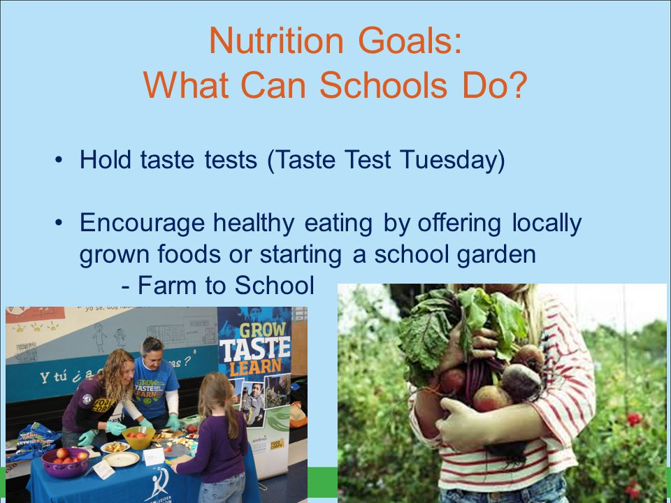 Nutrition Goals: What Can Schools Do.