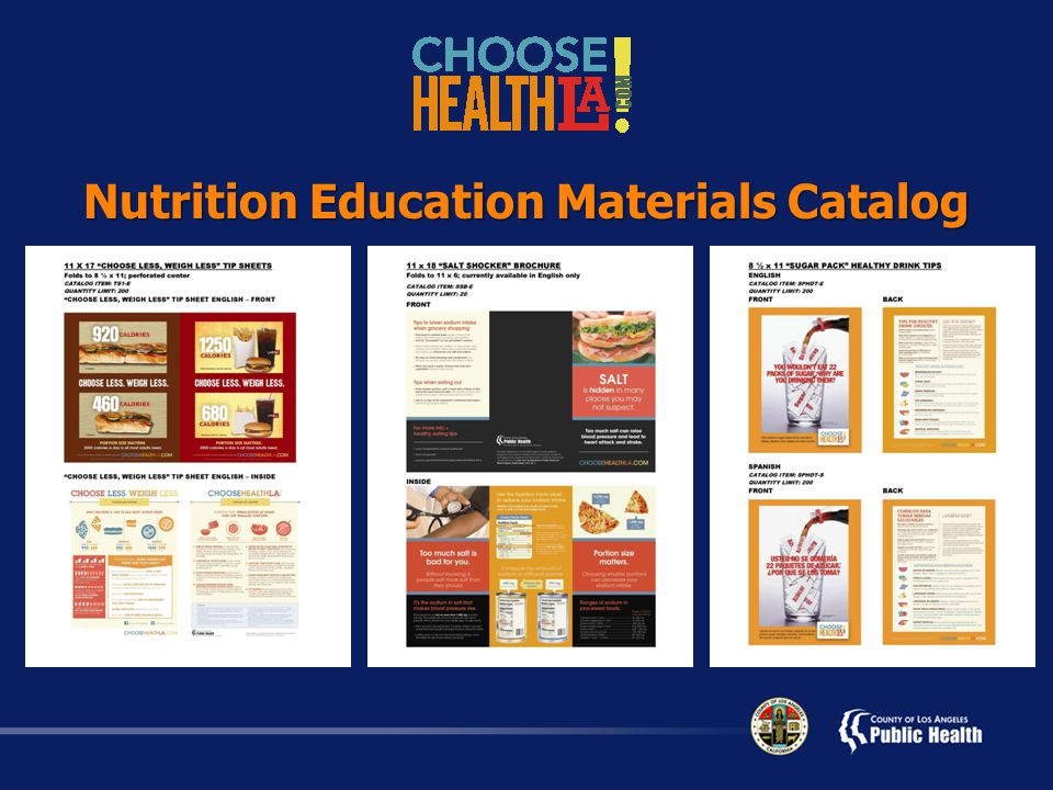 Nutrition Education Materials Catalog