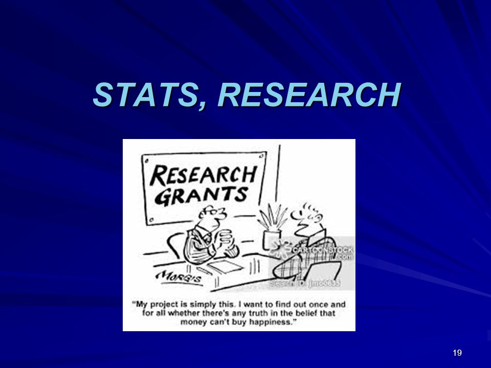 STATS, RESEARCH 19