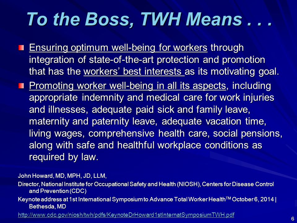 The Safety & Health Professional's Role Re TWH 27