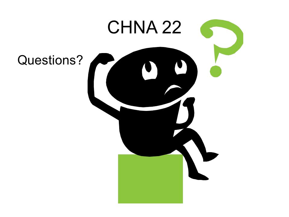 CHNA 22 Questions?