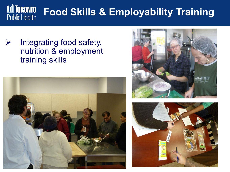 Food Skills & Employability Training  Integrating food safety, nutrition & employment training skills