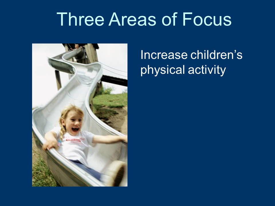 Three Areas of Focus Educate the public about the connection between health and achievement