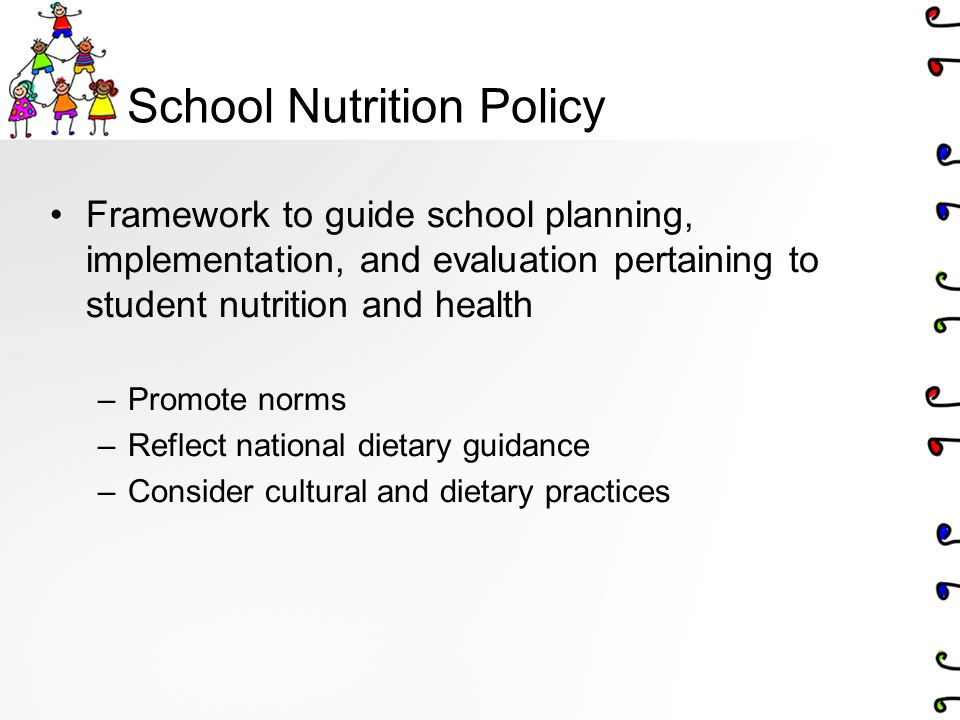 Pricing AL: healthier food choices are competitively priced relative to less nutritious foods Affordable healthy meal choices should be a priority over affordable healthy snacks SK: Healthy foods are reasonable priced and readily available in the school (e.g., cafeteria, canteen) MN: School policies can influence the appropriate pricing, promotion and advertising of nutritious food (p.