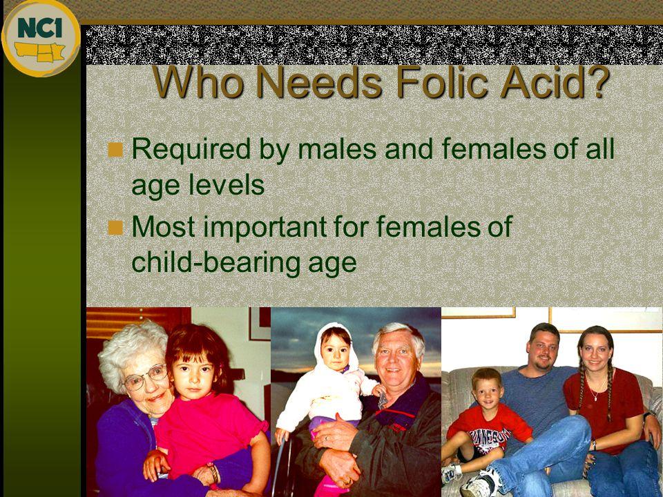 Who Needs Folic Acid.