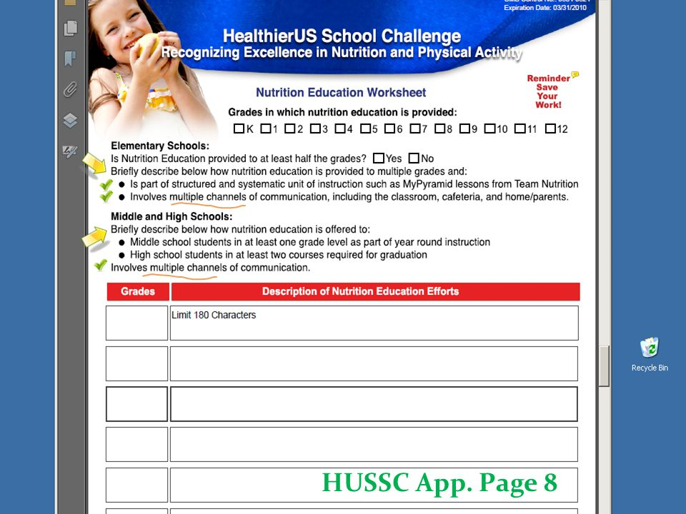 HUSSC App. Page 9