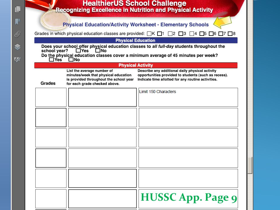 HUSSC App. Page 9a