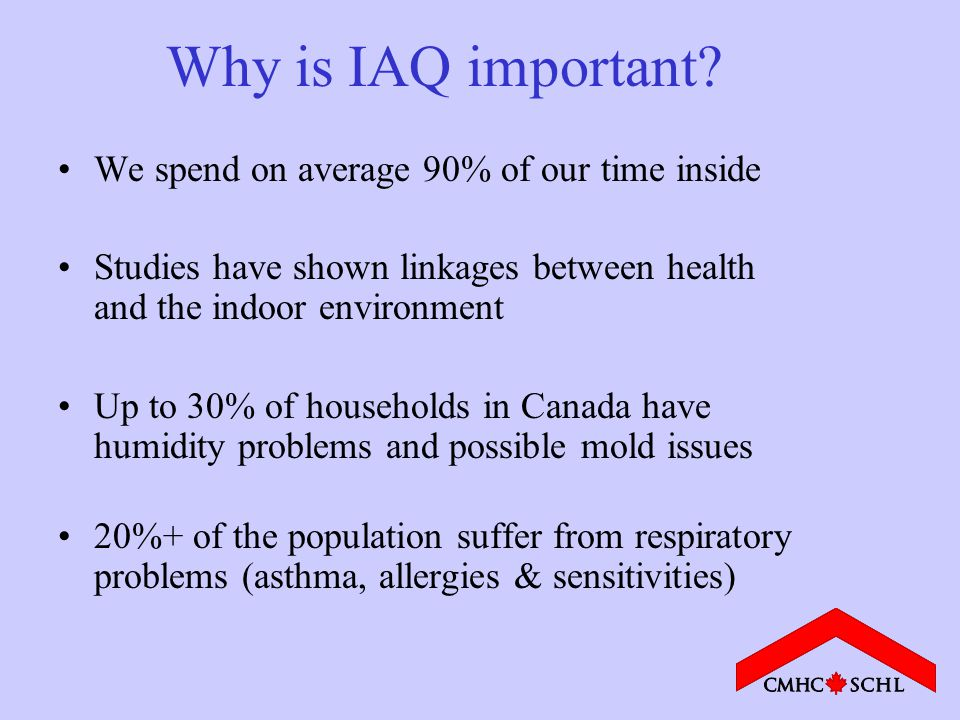 Why is IAQ important.