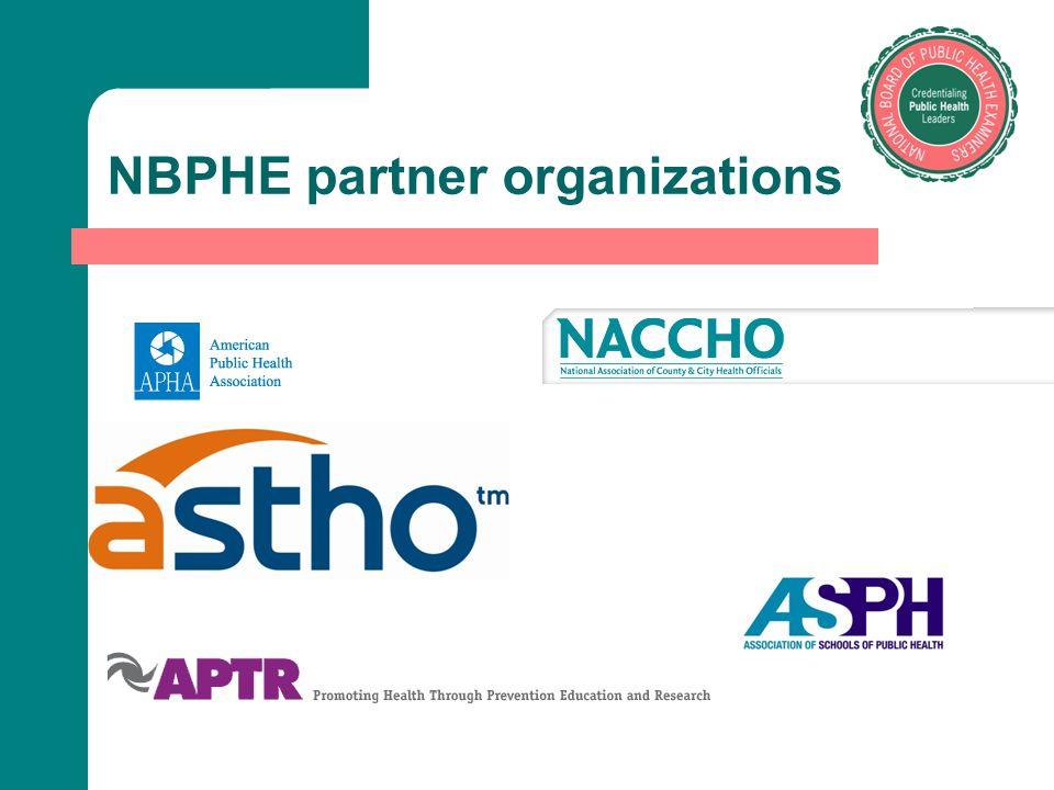 NBPHE partner organizations