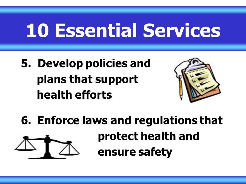 10 Essential Services 5.
