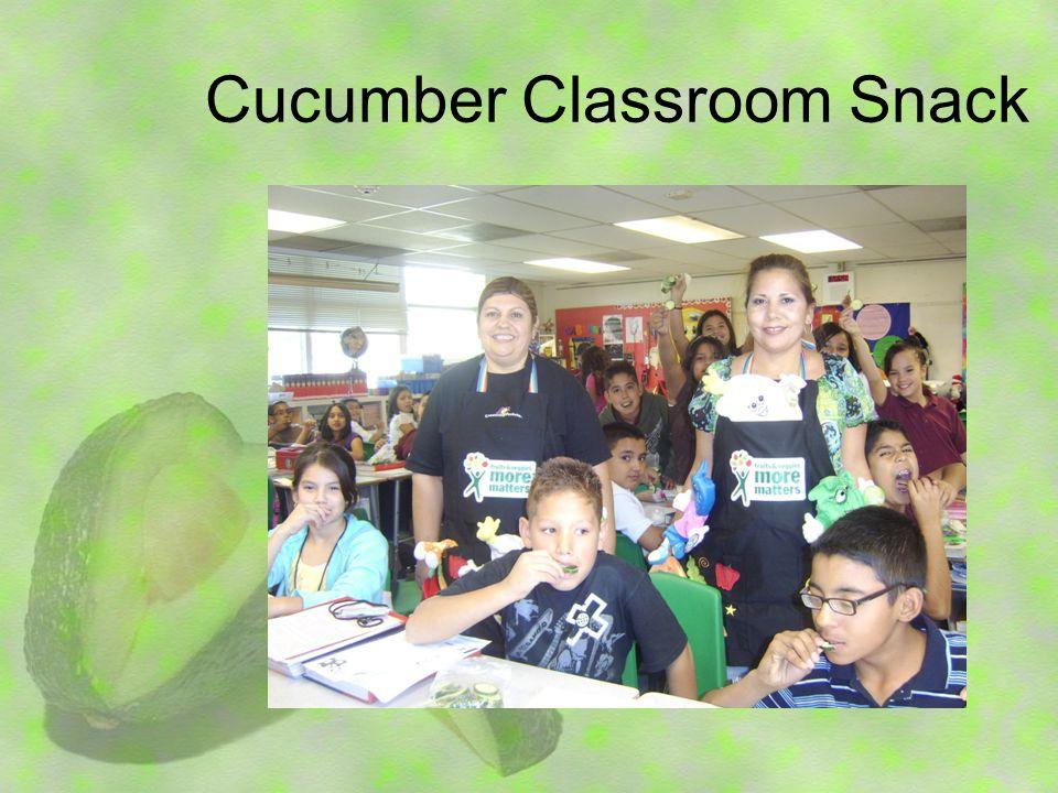 Cucumber Classroom Snack