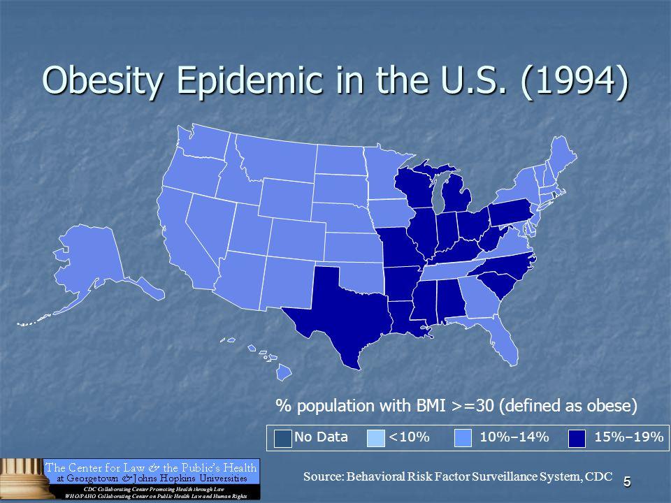 5 Obesity Epidemic in the U.S.