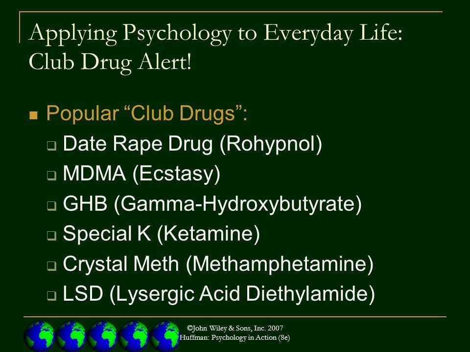 Applying Psychology to Everyday Life: Club Drug Alert.