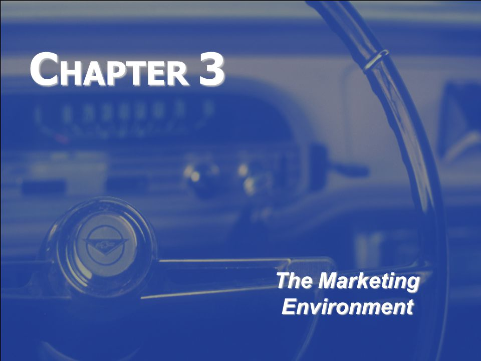 C HAPTER 3 The Marketing Environment