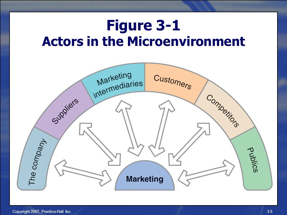 Copyright 2007, Prentice-Hall Inc.3-5 Figure 3-1 Actors in the Microenvironment