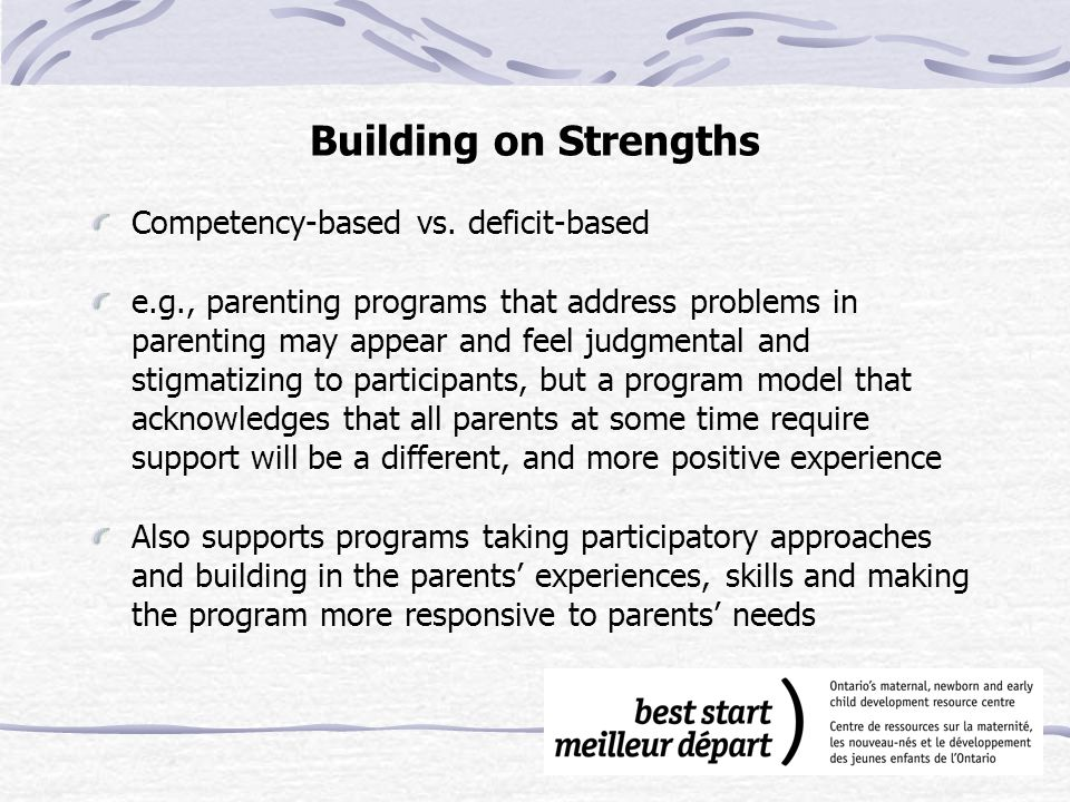 Building on Strengths Competency-based vs.