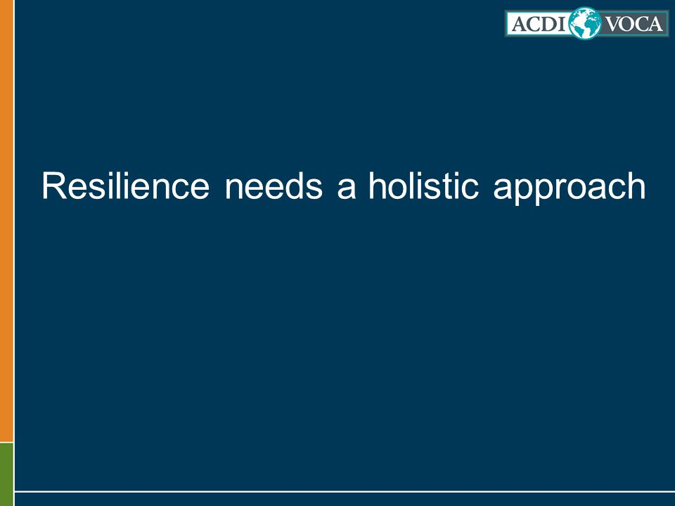 Resilience needs a holistic approach