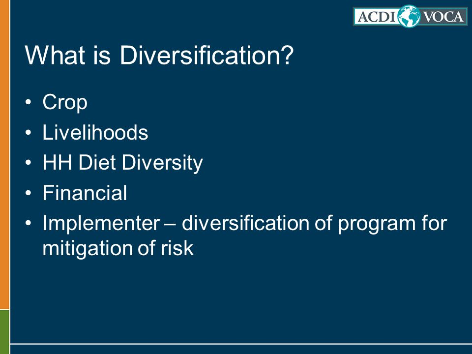 What is Diversification.