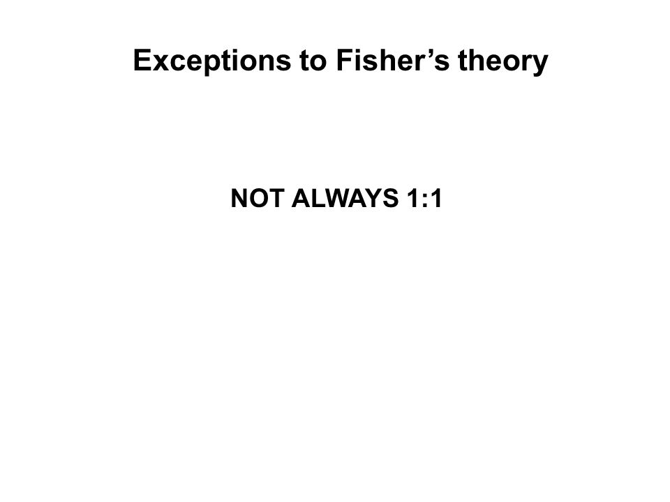 Exceptions to Fisher's theory NOT ALWAYS 1:1