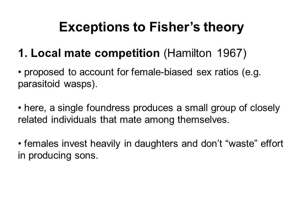 Exceptions to Fisher's theory 1.