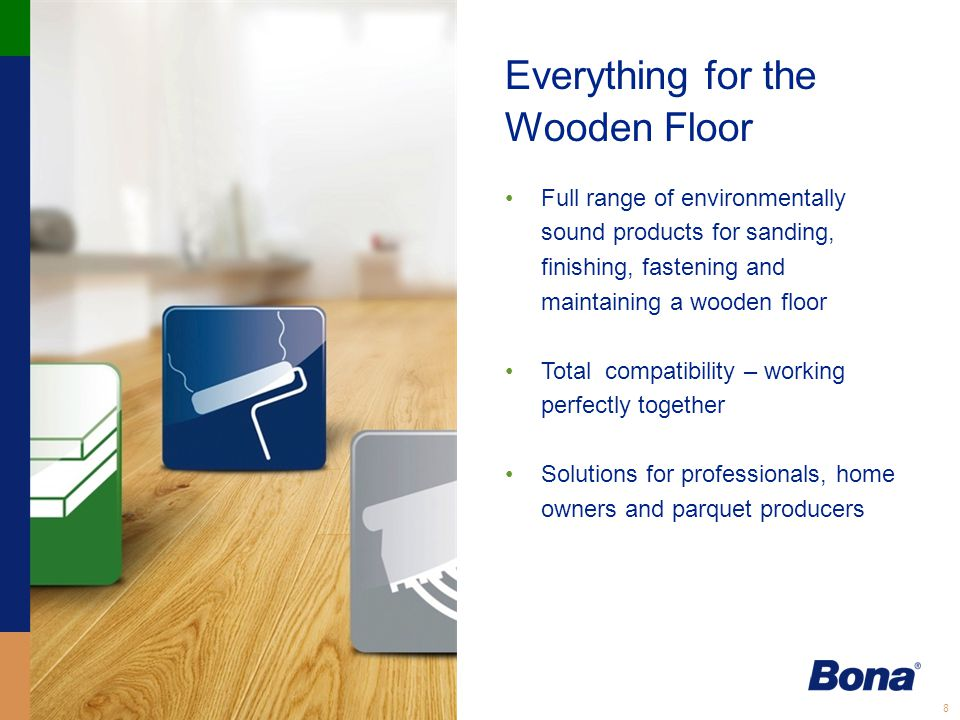 9 Coatings Wood Floor Design We were the first to introduce waterborne finishes Bona Traffic Anti Slip – developed for floors requiring high wear resistance and to meet the highest standards for slip resistance