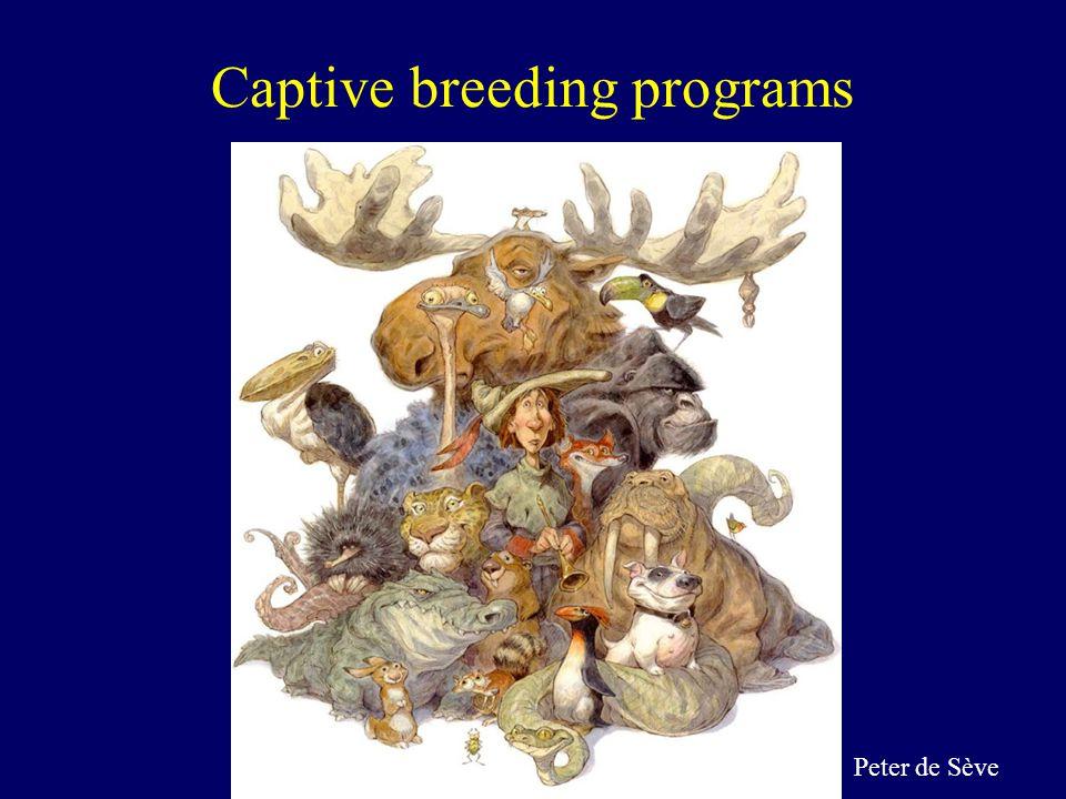 Captive breeding programs Peter de Sève