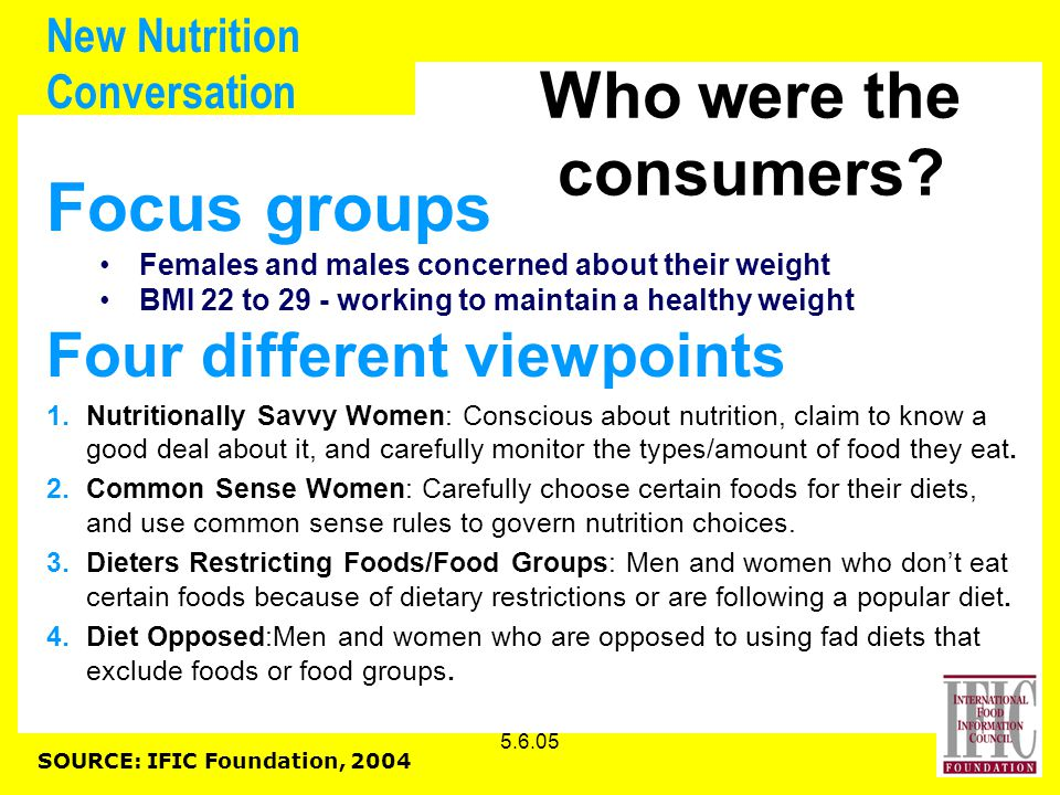 5.6.05 New Nutrition Conversation Who were the consumers.