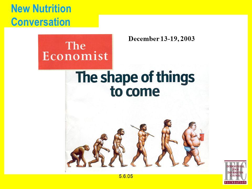 5.6.05 New Nutrition Conversation December 13-19, 2003