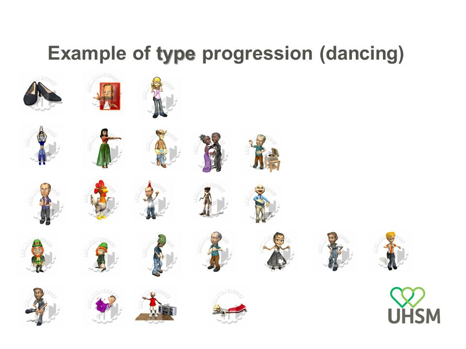 type Example of type progression (dancing)