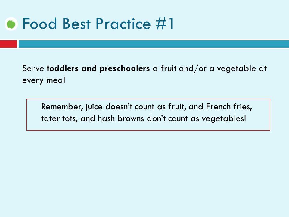 Ideas for Serving Fruits & Vegetables  Serve vegetables with yogurt, hummus, or low-fat dressing.
