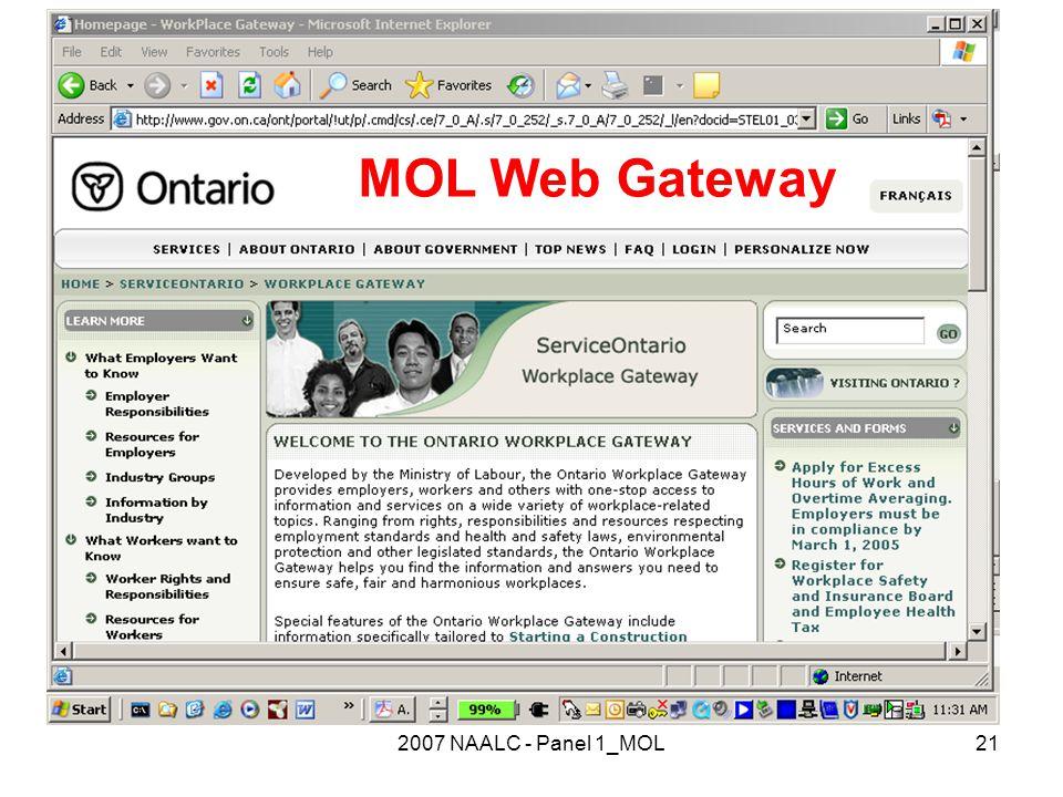 2007 NAALC - Panel 1_MOL21 MOL Web Gateway