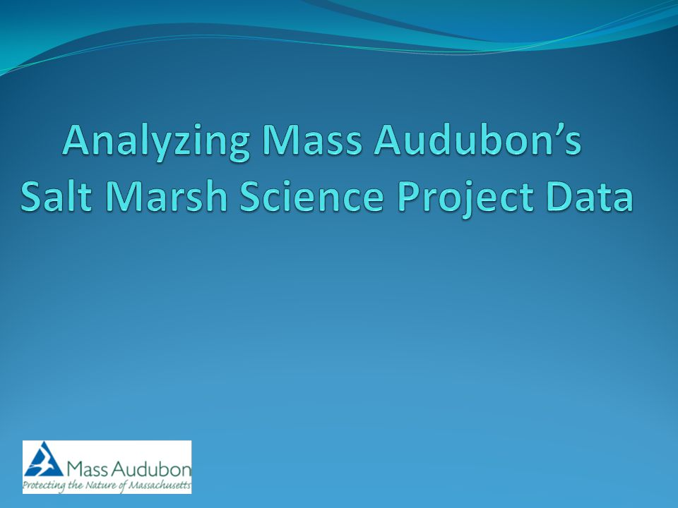 www.massaudubon.org/saltmarsh Salt Marsh Science Website holds the data.