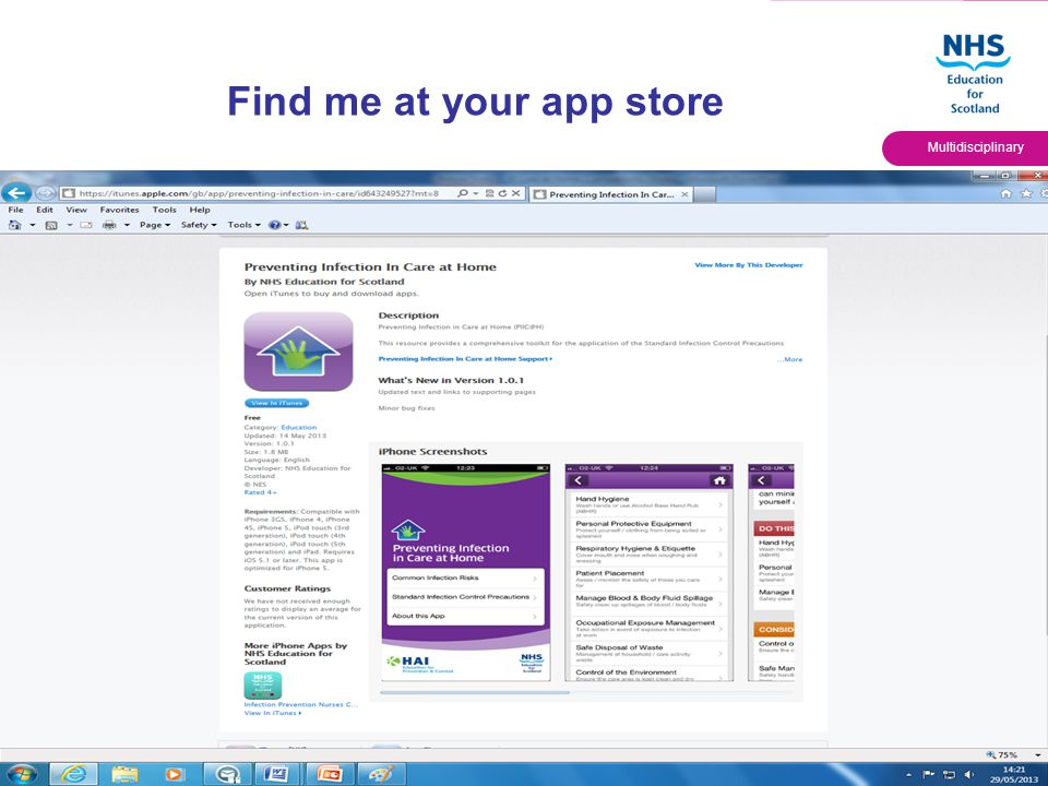 Quality Education for a Healthier Scotland Multidisciplinary Find me at your app store