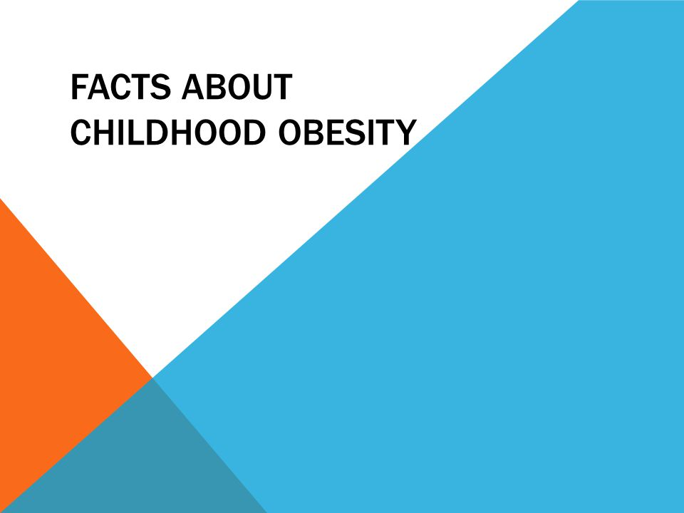 FACTS ABOUT CHILDHOOD OBESITY
