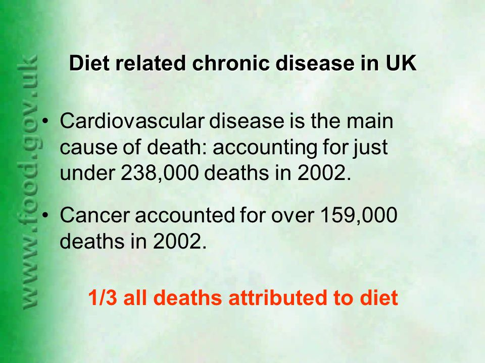 NDNS aims to: monitor the nutritional well being of the population compare intakes with recommendations describe characteristics of people with low (or high) intakes model changes in diet or composition monitor progress towards targets (saturated fat and salt) form the basis of food chemical exposure assessment