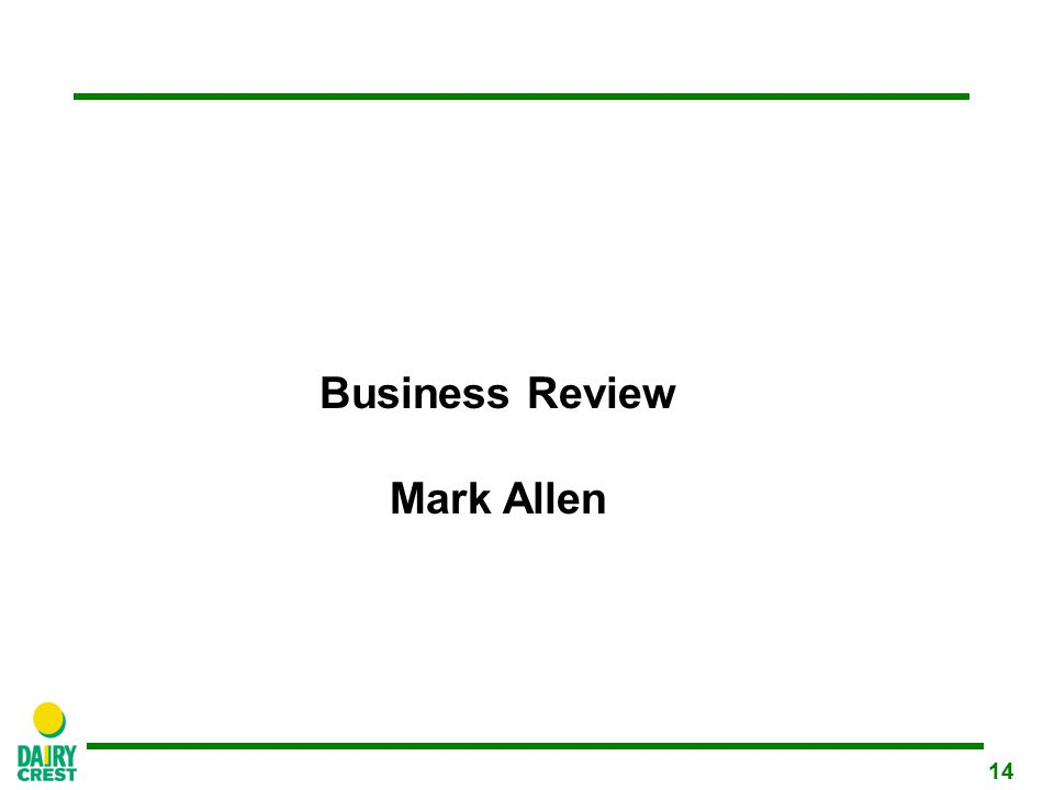14 Business Review Mark Allen