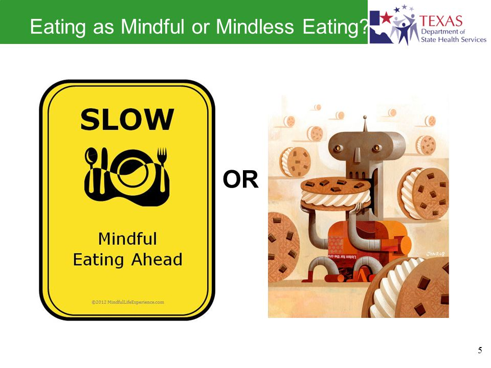 Eating as Mindful or Mindless Eating? 5 OR