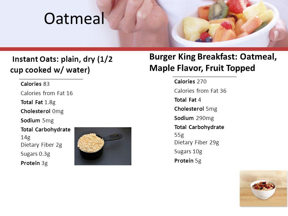 Yogurt: Fast Food McDonald's Fruit'n Yogurt Parfait (5.2 oz -With Granola) Chick-fil-A Breakfast: Yogurt Parfait (1 serving- With Granola) NUTRITION FACTS Calories 150 Calories from fat 20 Total Fat2g Sat.