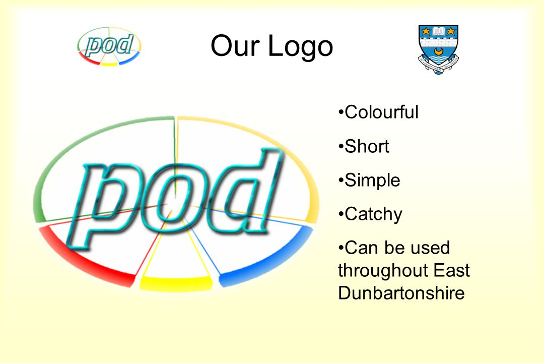 Our Logo Colourful Short Simple Catchy Can be used throughout East Dunbartonshire